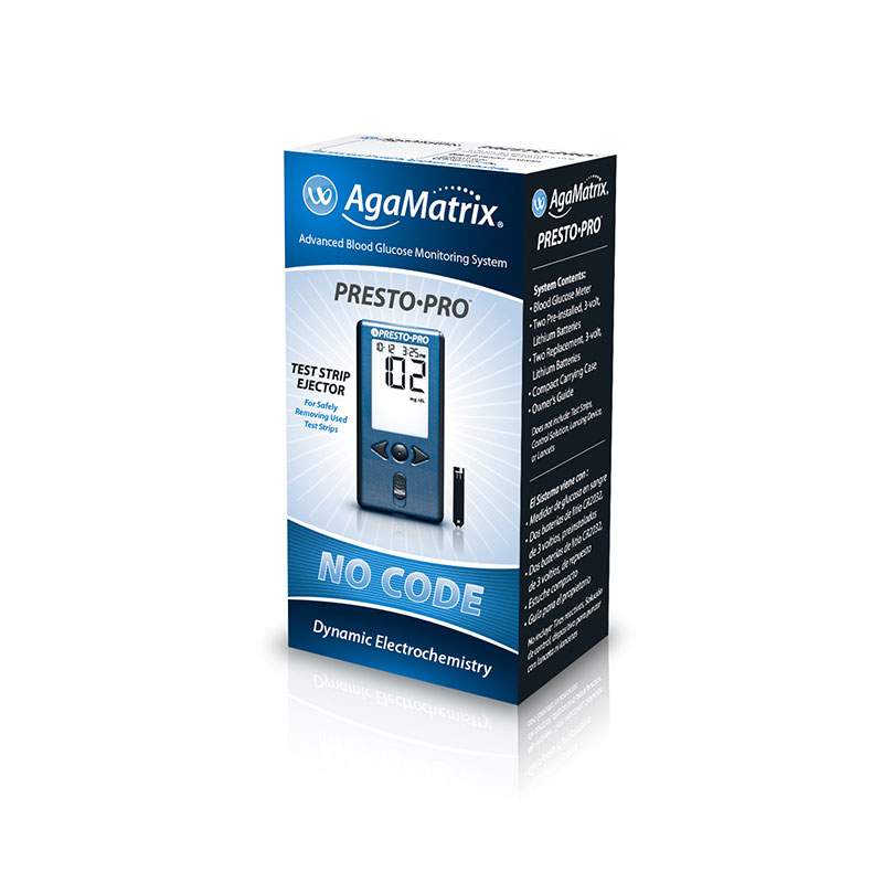 AgaMatrix Presto Pro Blood Glucose Meter Kit - Pack of 4