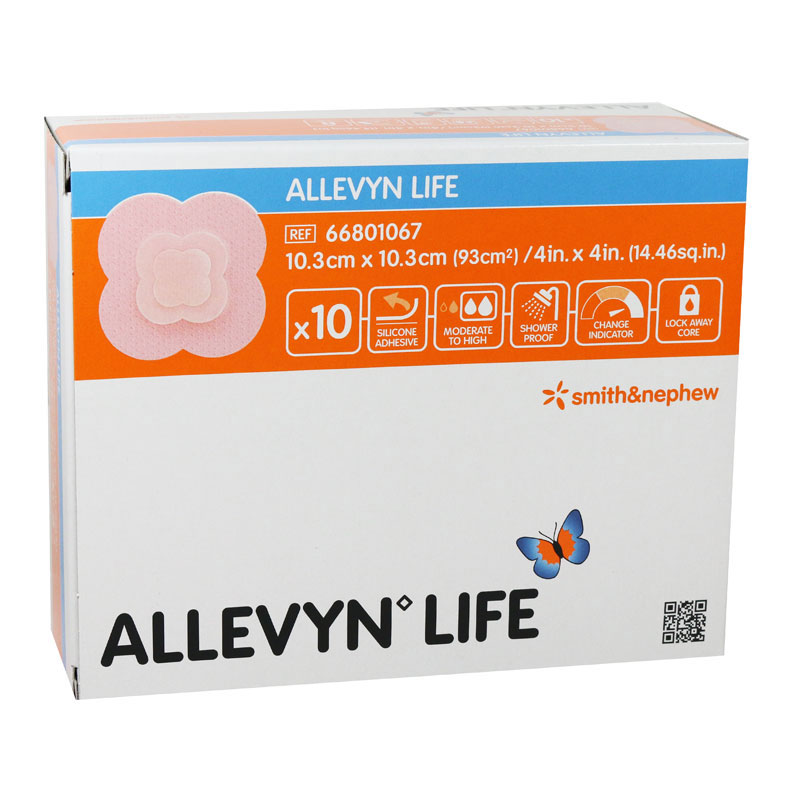 Allevyn Foam Dressing 4 inch x 4 inch 10/bx 66801067 Pack of 3