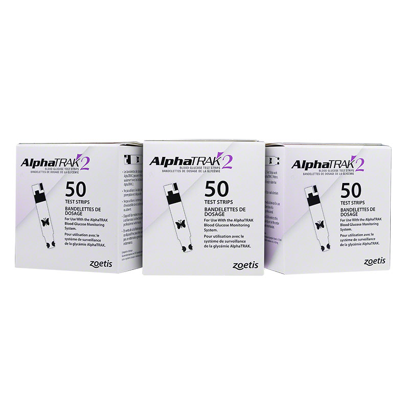 AlphaTRAK 2 Veterinary Blood Glucose Test Strips 150/box