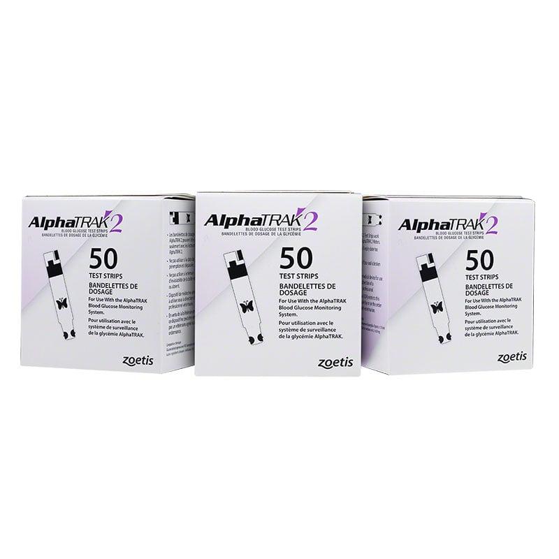 AlphaTRAK 2 Veterinary Blood Glucose Test Strips 150/box