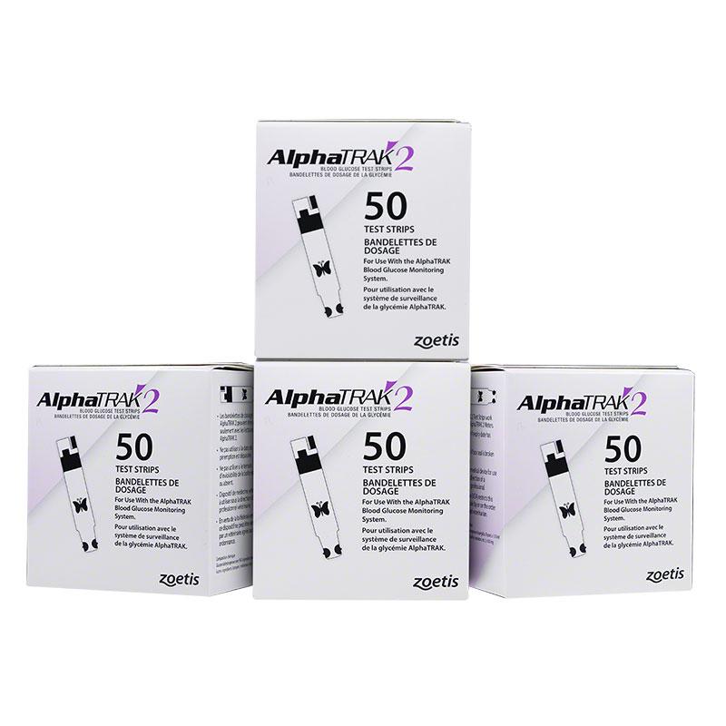 AlphaTRAK 2 Veterinary Blood Glucose Test Strips - Case of 12