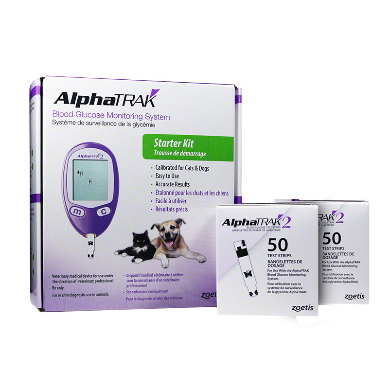 AlphaTRAK 2 Veterinary Blood Glucose Kit w/100 Extra Strips