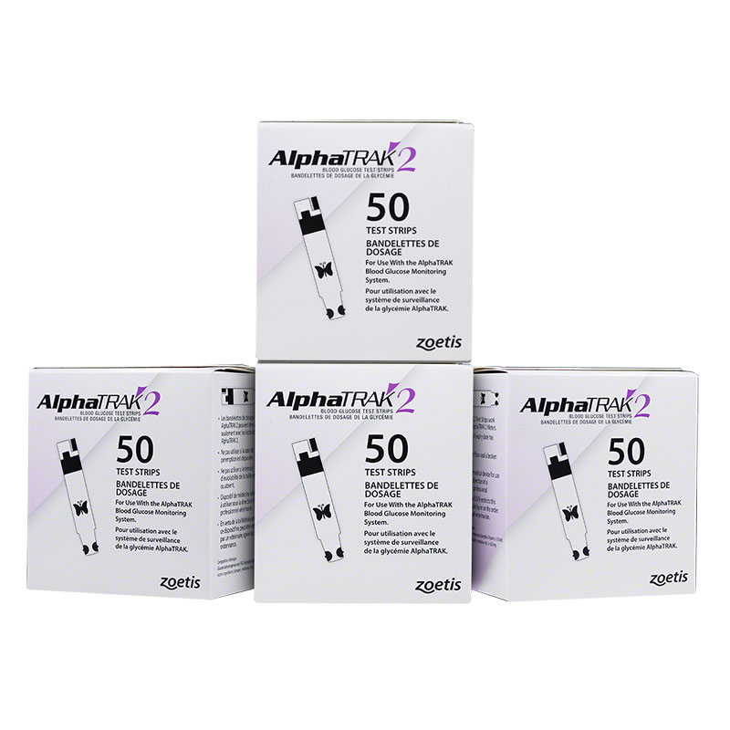 alphatrak 2 test strips case of 12 boxes