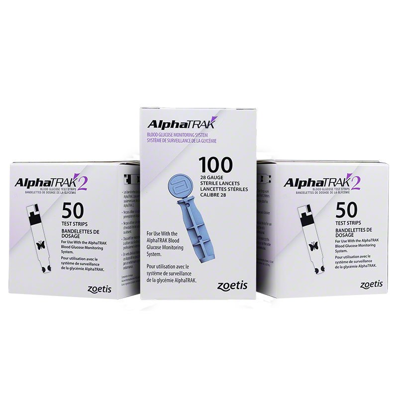 AlphaTRAK 2 Blood Glucose Test Strips & Lancets 100ct