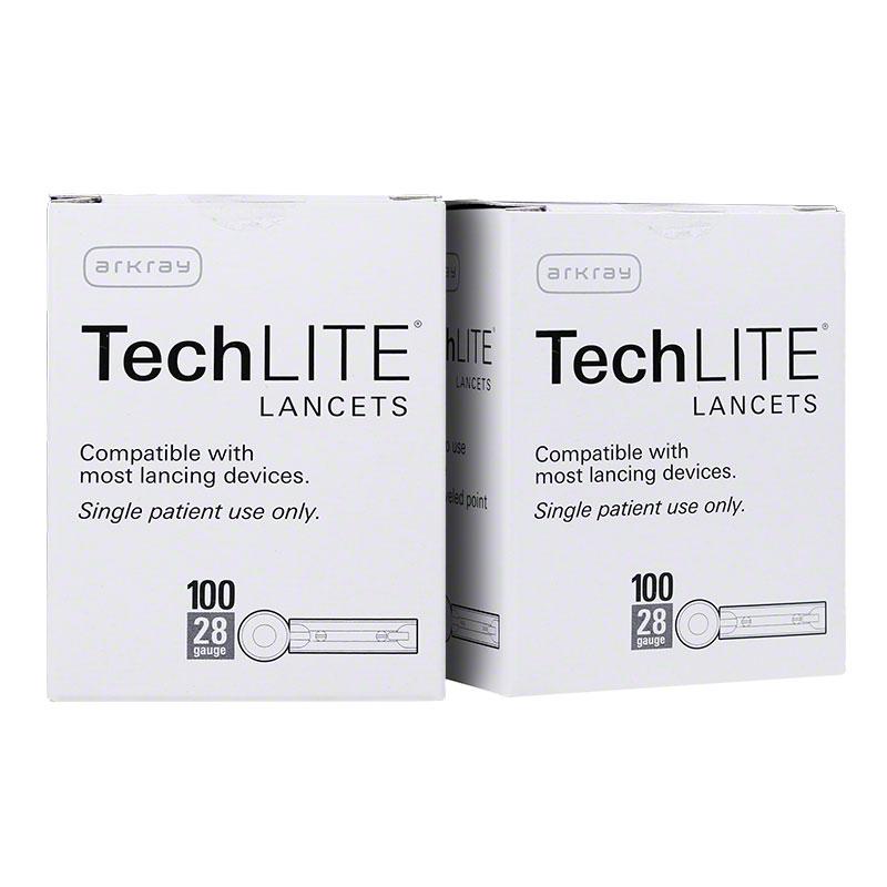 Arkray TechLite 28 Gauge Sterile Lancets - 200/bx