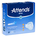 Attends Breathable Briefs Extra Absorbency Small 20