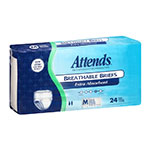 Attends Breathable Briefs Extra Absorbency Medium 34