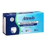 Attends Breathable Briefs Extra Absorbency Regular 34