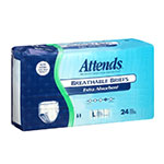 Attends Breathable Briefs Extra Absorbency Large 44-58 Inch 24 per bag