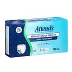 Attends Breathable Briefs Extra Absorbency Large 44-58 Inch 24 per bag thumbnail