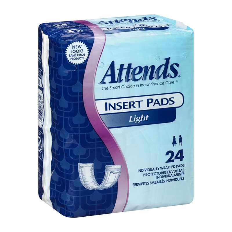 Attends Light Insert Pad 3.75 x 11.5 Bag of 24