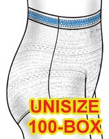 Attends Securely Yours Unisize Stretch Briefs 100/bx