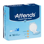 Attends Shaped Pads Super 24.5 Inch Bag of 18