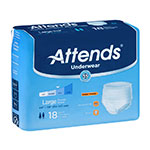 Attends Underwear Extra Absorbent Large 44-58 Inch Bag of 18 thumbnail