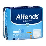 Attends Underwear Extra Absorbent X-Large 56-68 Inch Bag of 14 thumbnail