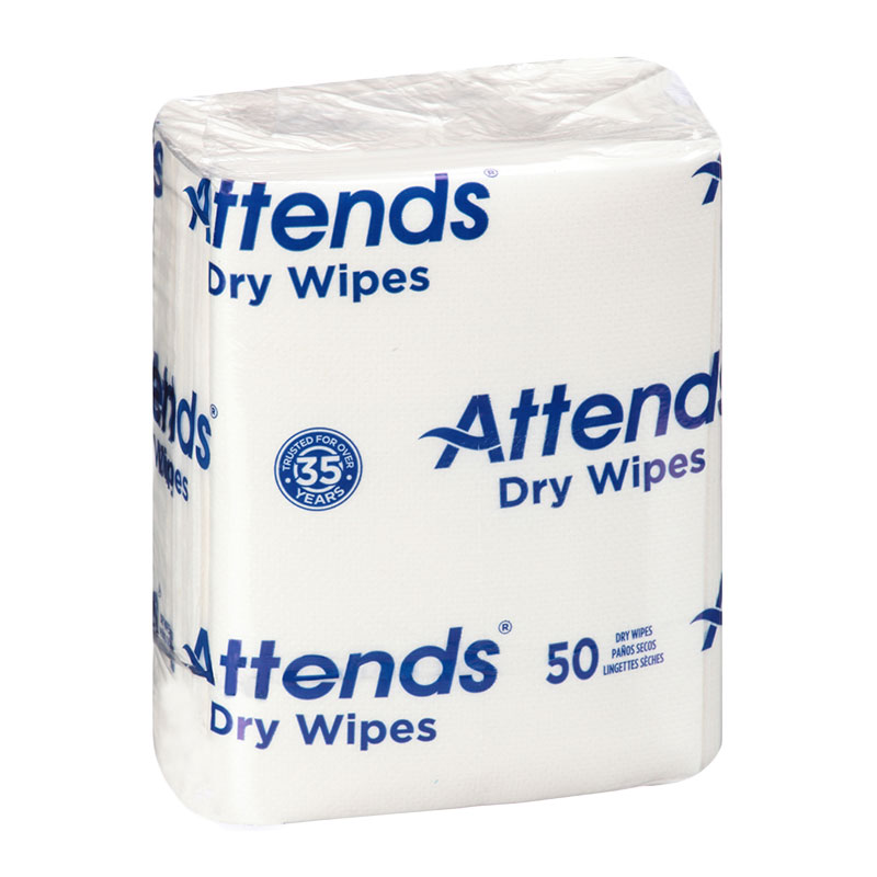 Attends Quickable Dry Wipes 10