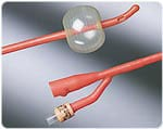 Bard Medical Bardex Lubricath Red Latex Coude Catheter 30cc 14 FR Each thumbnail