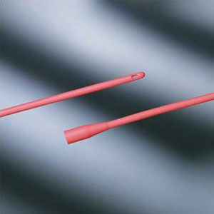 Bard Medical Red Rubber X-Ray Urethral Intermittent Catheter - 8 FR