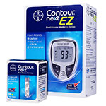 Bayer Contour NEXT EZ Glucose Meter Kit & 50 Test Strips thumbnail