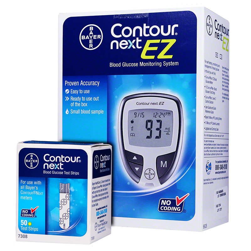 Bayer Contour NEXT EZ Glucose Meter & 50 Test Strips