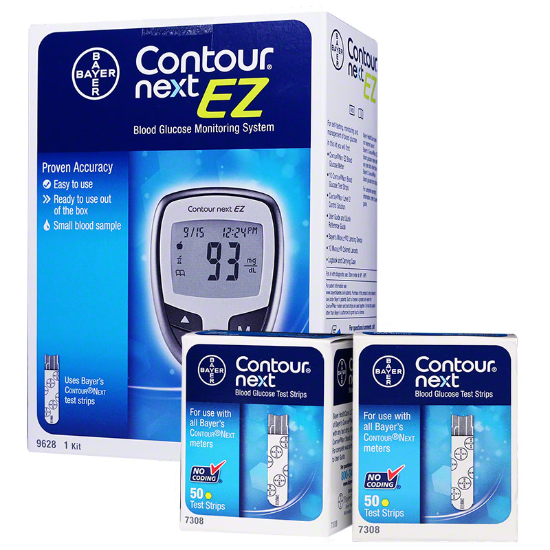 Bayer Contour next ez meter and 100 strips