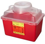 BD Nestable Sharps Container 8 Quarts Red with Clear Top Each 305344