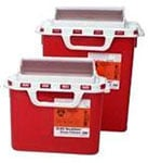BD Patient Exam Room Sharps Collector 5.4 Quarts Red 12/bx 305426