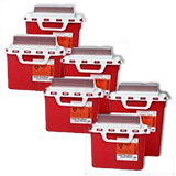BD Patient Exam Room Sharps Collector 5.4 Quarts Red 12/bx Case of 4