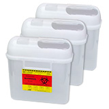BD Guardian Sharps Container 5.4 Quarts - Pearl Case of 4