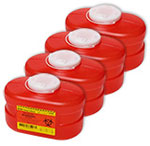 BD Multi-Use One Piece Sharps Container 3.3 Quarts 305488 Case of 4
