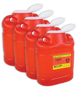BD Guardian Sharps 1-Piece Safety Collector 6.9 Quarts Each Case of 4