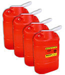 BD Guardian Multi-Use 1-Piece Sharps Collector Red 305490 Case of 4 thumbnail