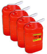 BD Guardian Multi-Use 1-Piece Sharps Collector Red 305490 Case of 4