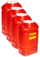 BD Guardian 1-Piece Sharps Collector 5 Gallons Red Each Case of 4