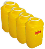 BD Chemotherapy Sharps Collector 5 Gallon Yellow 8/bx Case of 4