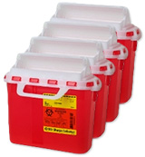 BD Guardian Sharps Collector 5.4 Quarts Red Each 305517 Case of 4