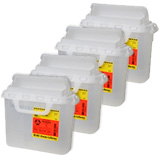 BD Horizontal Sharps Collector 5.4 Quarts Clear 305551 Case of 4