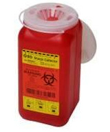 BD 1.4 Quart 1 Piece Sharps Container Red 36/bx 305557