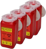 BD 1.4 Quart 1 Piece Sharps Container Red 36/bx 305557 Case of 4