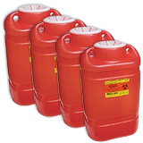 BD Sharps Container Screw Top Lid Red 5 Gallon Each 305577 Case of 4