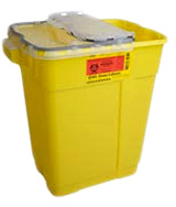 BD Chemotherapy Sharps Collector X-Large 17 Gallon Yellow 5/bx 305614