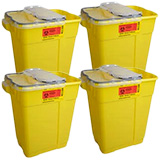 BD Chemotherapy Sharps Collector, 17 Gallon, Yellow, XL - 5ct