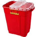 BD Extra-Large Sharps Collector 9 Gallon Red 8/bx 305615 thumbnail