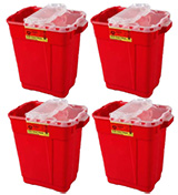 BD Extra-Large Sharps Collector 9 Gallon Red 8/bx 305615 Case of 4