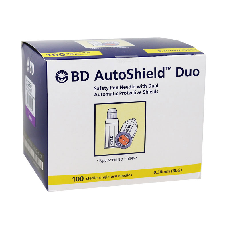 BD AutoShield Duo Pen Needles 100ct - Pack of 6