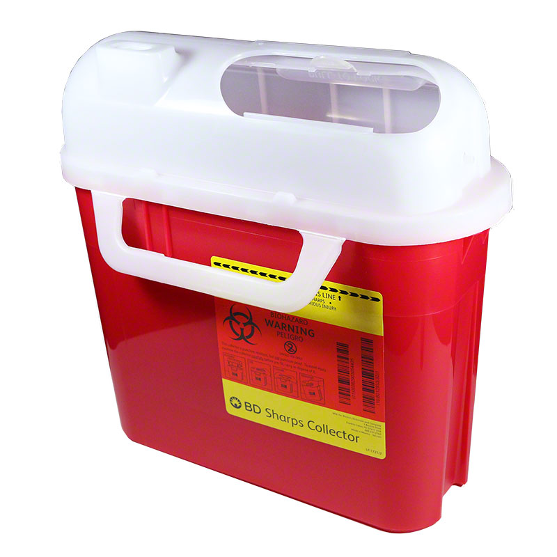 BD Guardian Home Sharps Container (5.4 qt, Red)