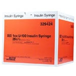 BD U 100 Micro-Fine Syringes 28G 1cc 100 per box Case of 4 thumbnail