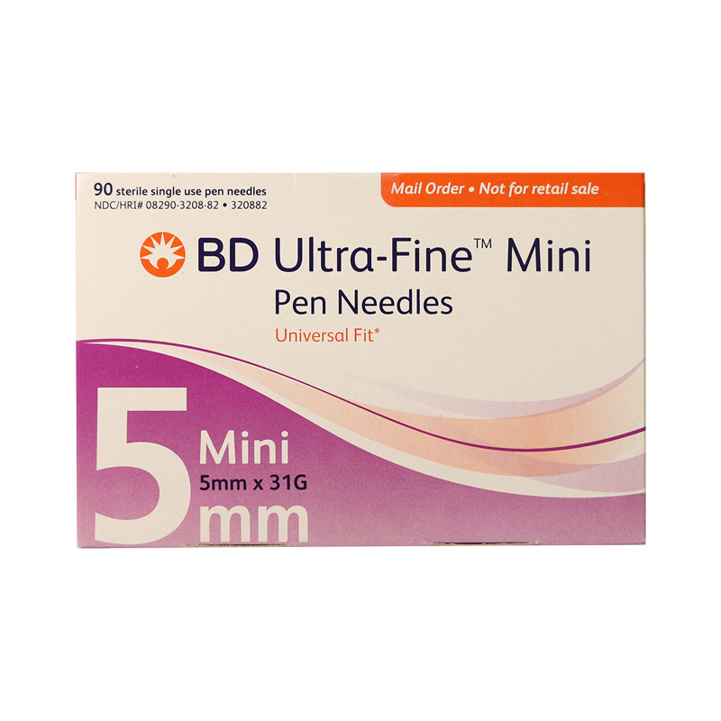 BD Ultra-Fine Mini Pen Needles 3/16 inch 31 Gauge Box of 90