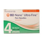BD Ultra-Fine Nano Pen Needles Case of 6 (32g, 5/32 inch, Box of 90) thumbnail