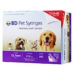 "BD U-40 Pet Syringes 29G 3/10cc 1/2"" - Half Unit Markings 100ct thumbnail"
